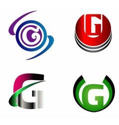 Letter G logo template design set vector
