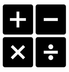 mathematical signs set vector image