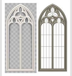 Medieval gothic lancet window vector