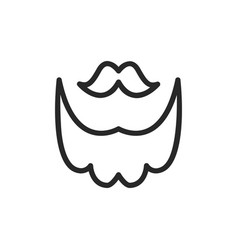 mustache and beard icon vector image