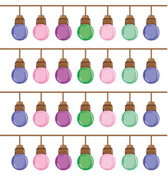 Nice bulbs hangings decoration background vector