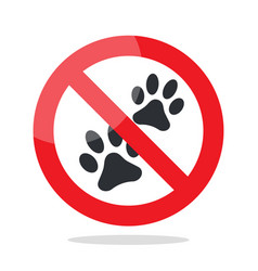 No animal sign vector