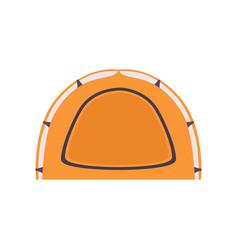 orange camping tourist tent summer rest design vector image
