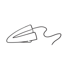 paper plane drawing using continuous single one vector image