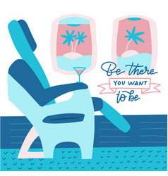 Passenger seat in airplane business class vector