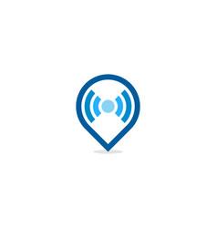 point wifi logo icon design vector image
