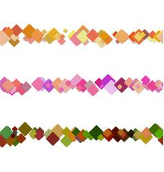 Repeatable random square pattern page separator vector