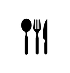 Restaurant eating tools set of three pieces vector