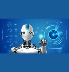 Robot artificial intelligence technology smart vector