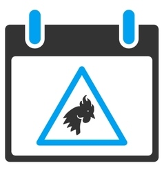 Rooster Warning Calendar Day Toolbar Icon vector
