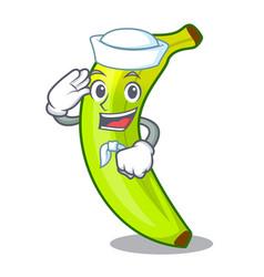 Sailor green banana cartoon in the market vector