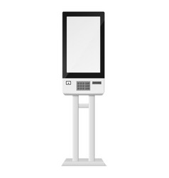 Self-ordering kiosk and atm realistic cash vector