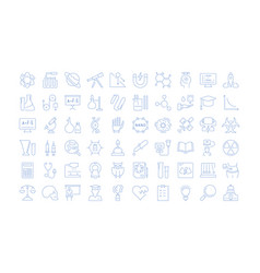 set line icons natural history vector image