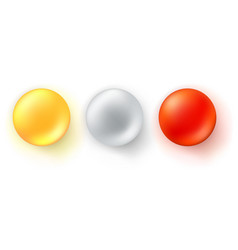 set of icons of glossy balls realistic three vector image