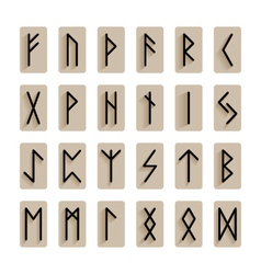 set of signs runes isolated vector image