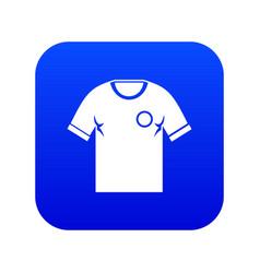 soccer shirt icon digital blue vector image