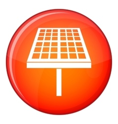 Solar energy panel icon flat style vector