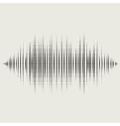 sound waves set Audio equalizer technology vector image