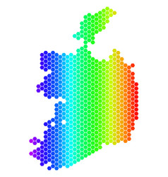 spectrum hexagon ireland republic map vector image