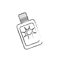 Sub bronzer bottle vector