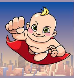 super baby city background vector image