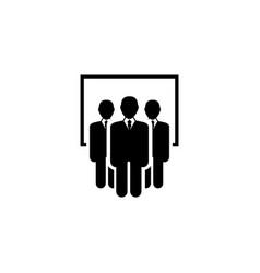 team flat icon vector image