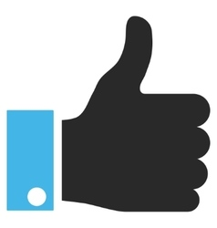 Thumb Up Flat Pictogram vector image