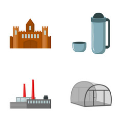 Travel oil refining and other web icon in cartoon vector