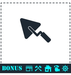 Trowel icon flat vector