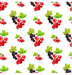 Webseamless pattern with clusters berries vector