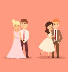 wedding couple beautiful model girl in vector image
