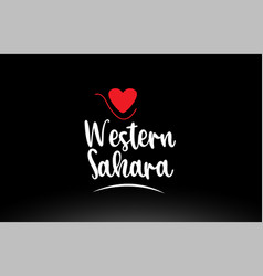 western sahara country text typography logo icon vector image