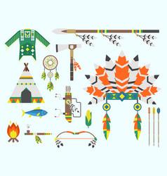 Wild west american indian designed element vector