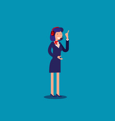 woman tech support or troubleshooting department vector image