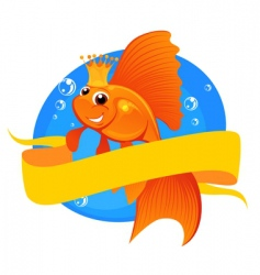goldfish and banner vector image