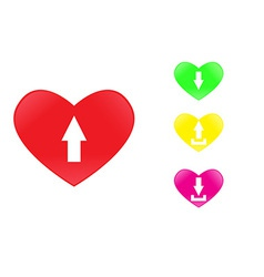 icon heart upload vector image vector image