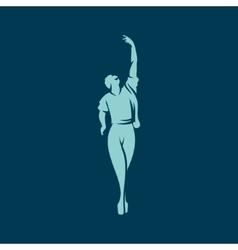 Man dancing ballet sign vector
