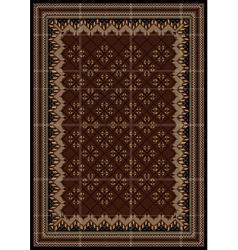Motley rug in maroon and brown shades vector