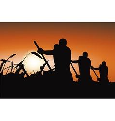Mow at Dawn vector image vector image