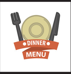 restaurant icon template of menu element vector image vector image