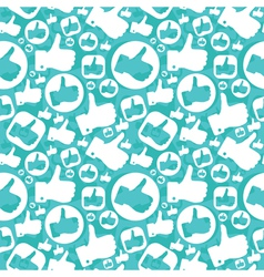 seamless pattern with like signs vector image vector image
