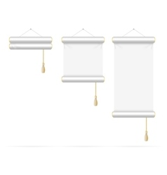 Template White Scroll Set vector image