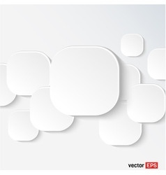 White speech cloud vector image vector image
