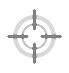 Crosshair reticle icon flat style vector image