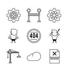 error 401 icons vector image