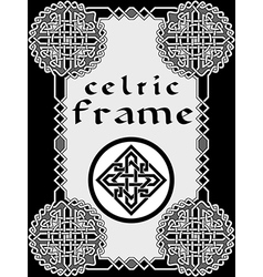 Frame in Celtic vector image vector image