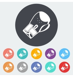 Icon flat boxing gloves vector image