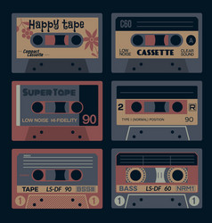 old times audio cassettes vector image