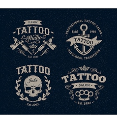 Tattoo Emblems 1 vector image vector image