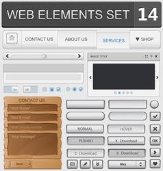 Web elements set 14 vector image vector image